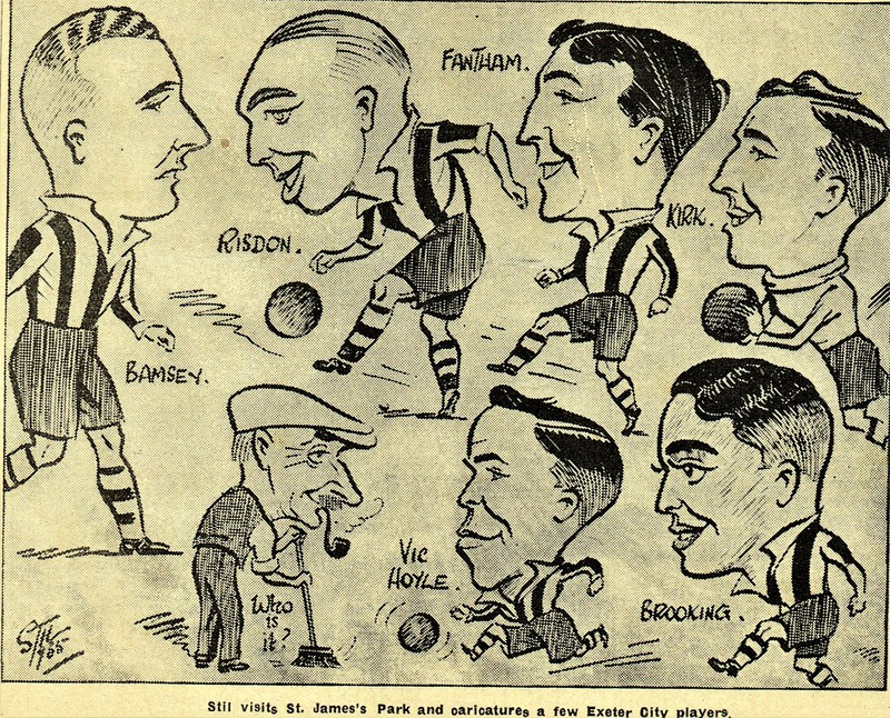 Caricatures of City Players