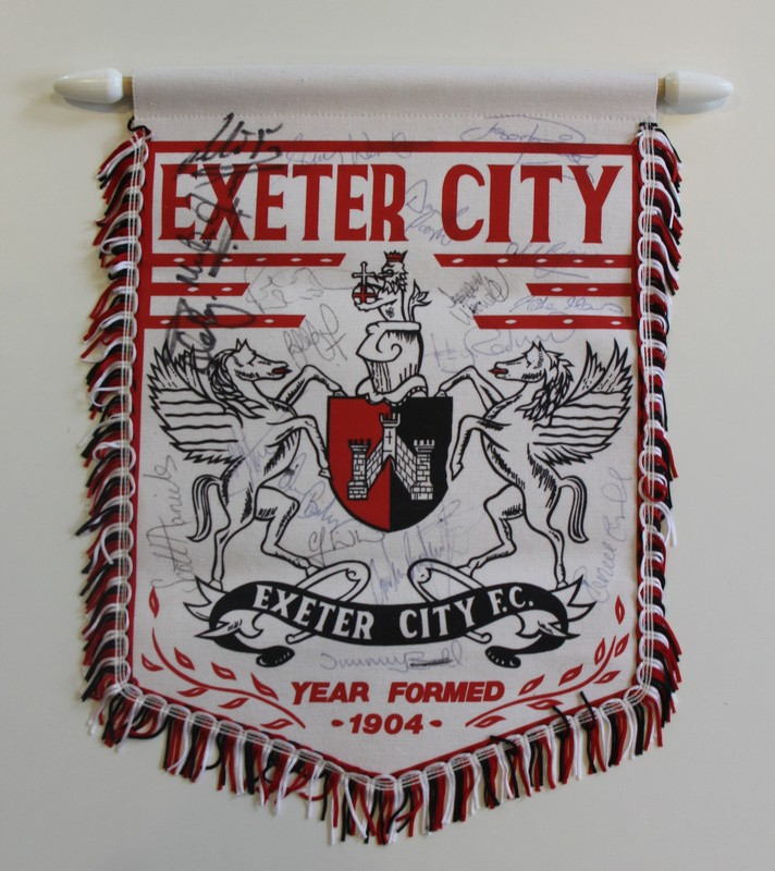 ECFC pennant with autographs of former ECFC players