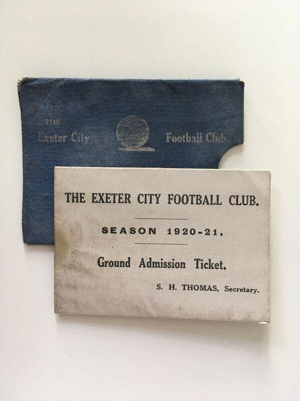 1920/21 Season Ticket