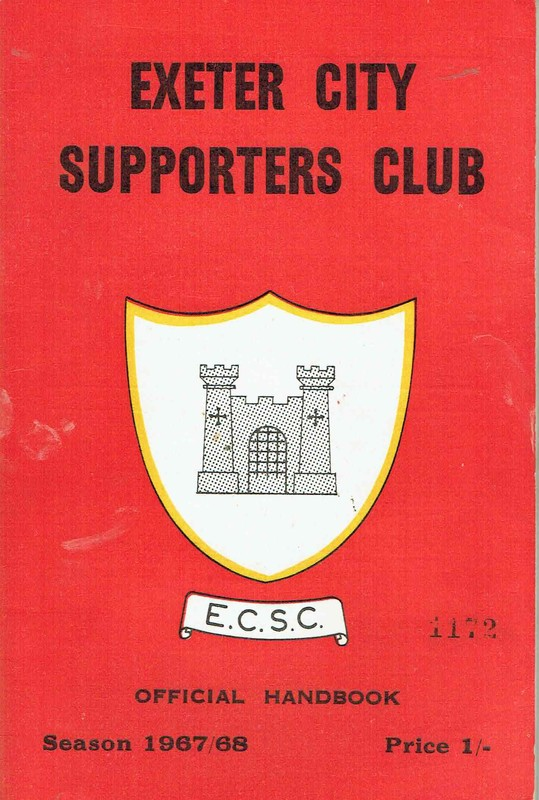 Exeter City Supporters Club Official Handbook 1967/68