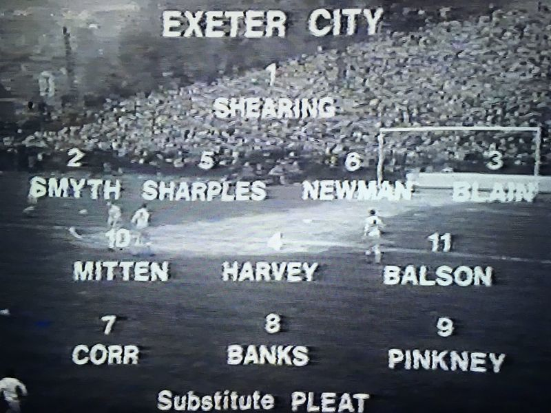 Exeter City XI vs. Manchester United (FA Cup 3rd Round, 4th January 1969)