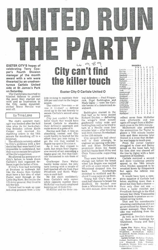 Champions 1990   Newspaper Cuttings