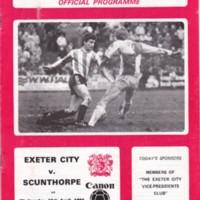 ECFC v Scunthorpe United | April 1984