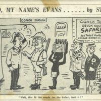 No, my name's Evans