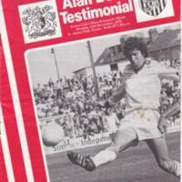 Alan Beer Testimonial ECFC v West Bormwich Albion | 1978