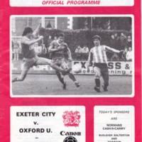 ECFC v Oxford United | January 1984