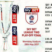 Wembley Ticket | Blackpool 2017