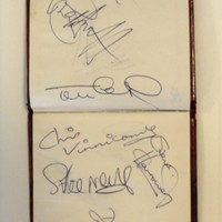 Autographs of former ECFC football players