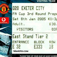 FA Cup Ticket | Manchester United (2005)