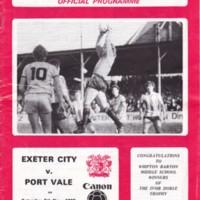 ECFC v Port Vale | November 1983