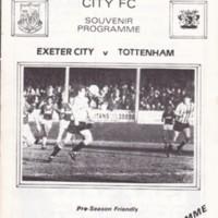 Friendly | ECFC v Totteham Hotspur | August 1985
