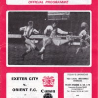 ECFC v Orient FC   February 1984