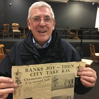 Alan Banks newspaper clipping vs. Manchester Untied (1969)