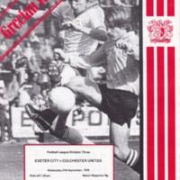 ECFC v Colchester United | 1978