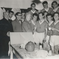 Exeter City celebrating the win against Coventry 1958/59