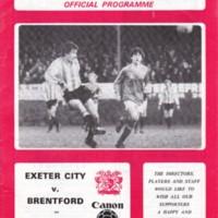 ECFC v Brentford | December 1983