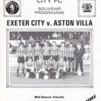 Friendly | ECFC v Aston Villa | February 1985