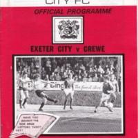 ECFC v Crewe | December 1984