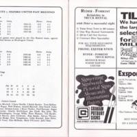 Peter Hatch Benefit Match | ECFC v Oxford United | October 1986