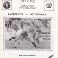 Friendly | ECFC v Aston Villa | August 1985