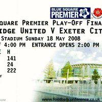 Wembley Ticket | Cambridge 2008