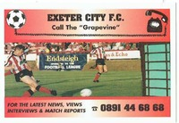 Exeter City fixture list for the 1994/95 season