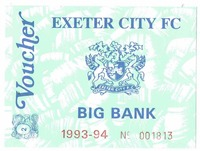 Voucher for the Big Bank from the 1993/94 season